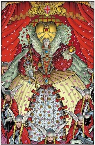 """illustrazione estratta da """"Cuore dell'Impero"""", continuazone della saga di Luther Arkwright, Dark Horse. In Italia pubblicata da comma 22."""