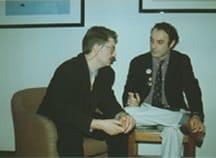 Luca Boschi intervista John Bolton, sempre a Lucca, nel 1992.