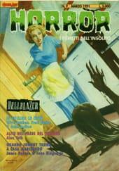 Copertina della rivista Horror illustrata da John Bolton.