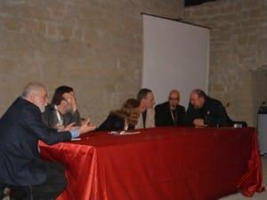 Foto degli incontri al Comicon con Karen Berger e Delano, con Castelli e Cajelli.