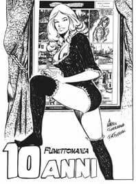 Dedica di Francesco Ferrari per i dieci anni di Fumettomania. Per gentile concessione