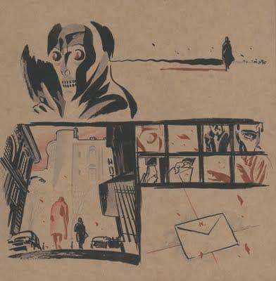 disegno del racconto di G. Palumbo, Karas Ombra Rossa. Per gentile concessione
