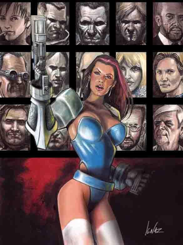 """illustrazione dal titolo """"Cyberpunk47"""". Per gentile concessione"""