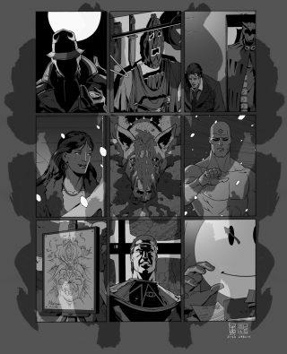 """Illustrazione di Giuseppe Camuncoli, dal volume """"Watchmen, vent'anni dopo"""", Lavieri edizioni. Per gentile concessione"""