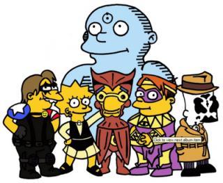 Tributo di Matt Groending a Watchmen, in stile Simpson. Dal sito dell'Autore © dell'Autore