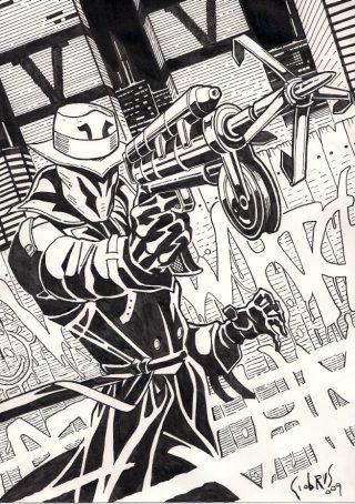 Tributo a Rorschach, uno dei protagonisti della graphic novel Watchmen. a cura del disegnatore Giovanni Brusca. Per gentile concessione