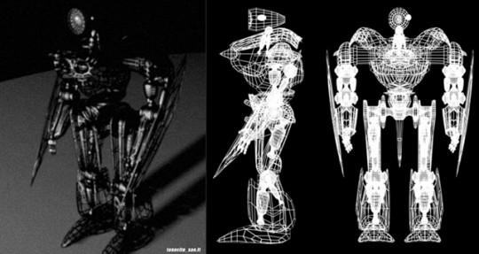 Esercizio di lavoro in 3D, titolo Crashbot.