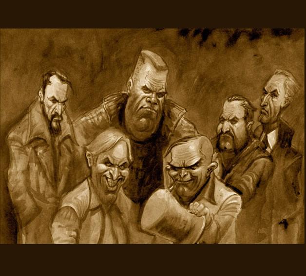 """Altro illustrazione per la copertina del volume """"Il Giglio nero"""". Per gentile concessione"""