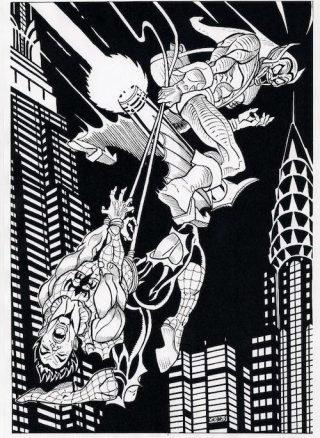 Tributo alla copeertina di Amazing Spiderman n. 39 disegnato da Gios Brusca