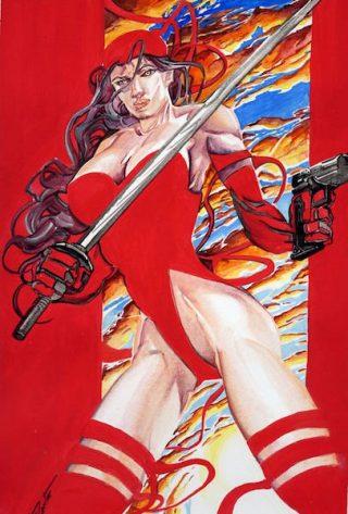Tributo ad Elektra del disegnatore palermitano Francesco Conte