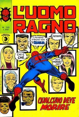 06_copertina del 133 de L'Uomo Ragno (Editoriael corno)
