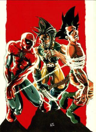 32_spiderman, wolverine e dragonball_di antonio zuccarello_oltrecomics