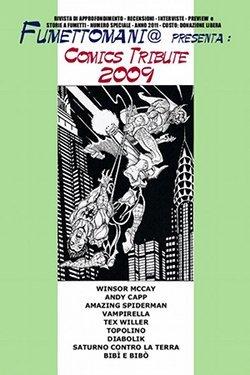 Copertina del primo speciale di Fumettomania: Comics tribute 2009
