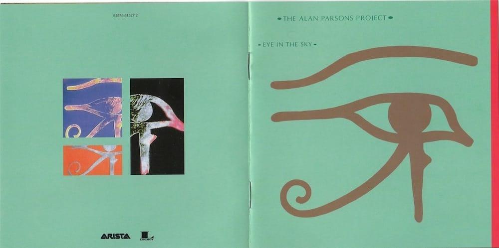 Copertina e retrocoeprtine del fascicolo contenuto nel CD dell'album Eye in the Sky.