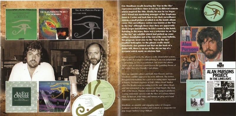 ANCORA ALTRE  pagine interne  del fascicolo contenuto nel CD dell'album Eye in the Sky.