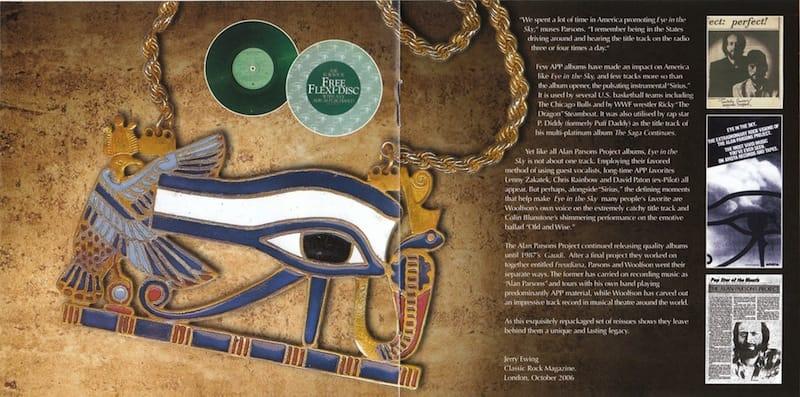 Altre due pagine interne  del fascicolo contenuto nel CD dell'album Eye in the Sky.