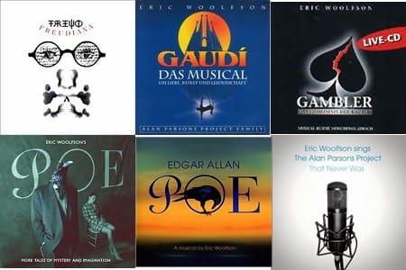 Collage dei 6 album realizzati solo da Erci Woolfson