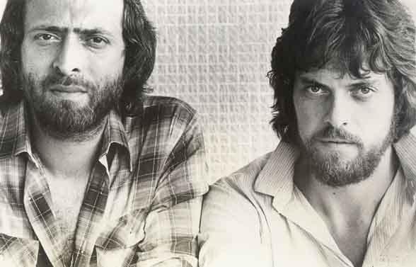 Una foto d'epoca con Eric Woolfson e Alan Parsons, negli anni '80.