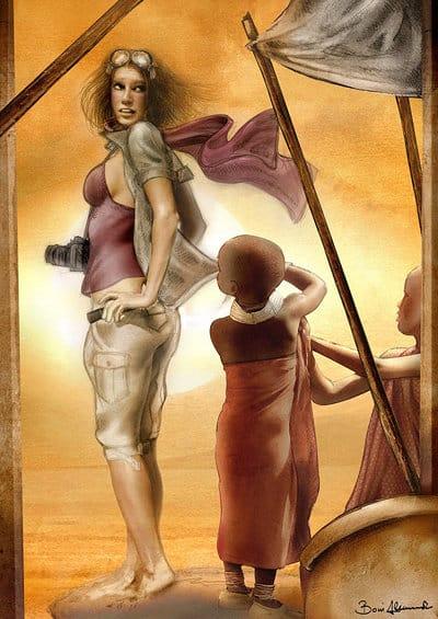 JUA-Africa-comics: illustrazione di Alessandro Boni per comicsxafrica 2011
