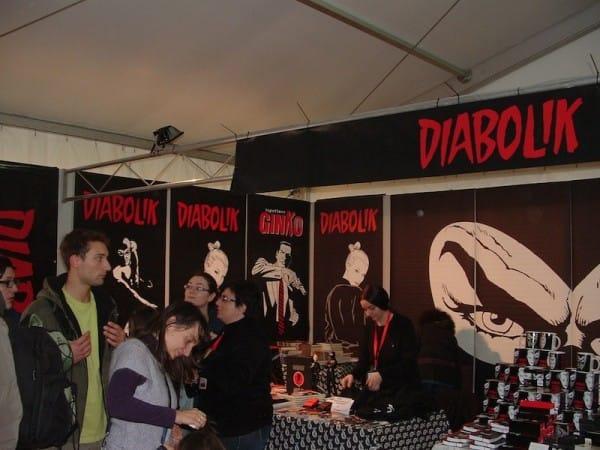 Lo stand di Astorina-Diabolik. © Ma.Be.