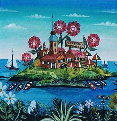 Dipinto intitolato l'isola felice