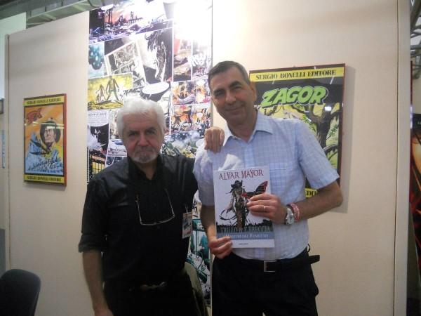 Comicon 2012: l'amico cesare Milella con Enrique Breccia