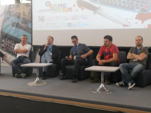 Comicon 2012:  uno degli incontri con Fodera, Cantarelli, Enna, Siniscalchi e Mattone