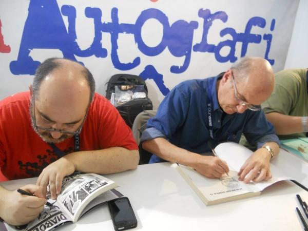 Comicon 2012: G. alumbo ed Alessandrini nella'rea Autografi