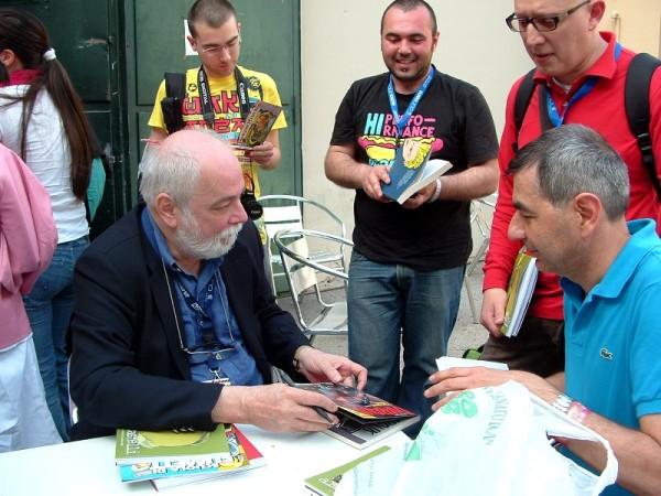 Comicon 2012: Alfredo Castelli (creatore di martin Mysteré) dialoga con l'amico Cesare Milella