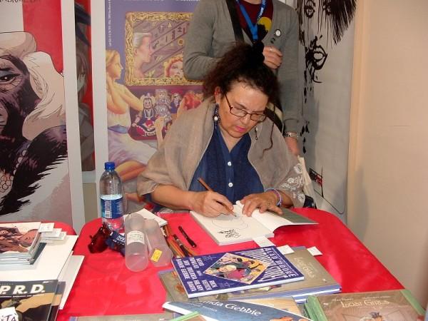 """Comicon 2012: Melinda Gebbie, l'autrice di """"Lost Girl"""" dedica il suo volume."""