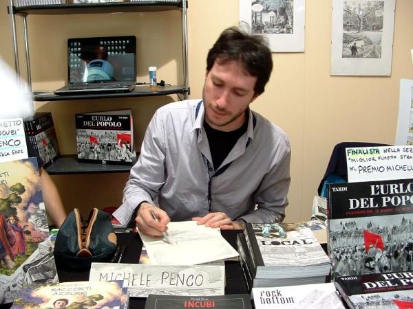 Comicon 2012: Michele Penco al alvoro ad uno sketch