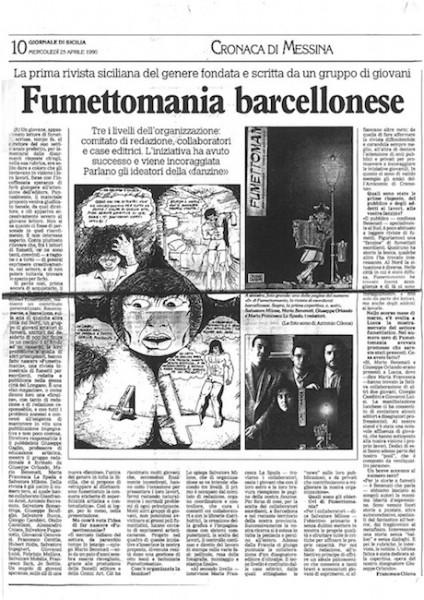 Il primo articolo su Fumettomania - rassegnastampa_25-04-2012