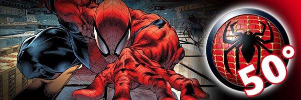 banner dello speciale 50 anni di Spider man