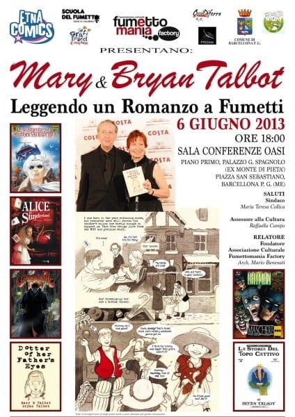 Locandina dell'incontro a Barcellona p:G. di Mary&Bryan Talbot (6 giugno 2013)