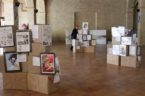 foto allestimento della mostra