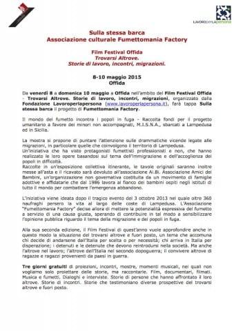 Comunicato stampa Film Festival Offida_Sulla stessa barca1