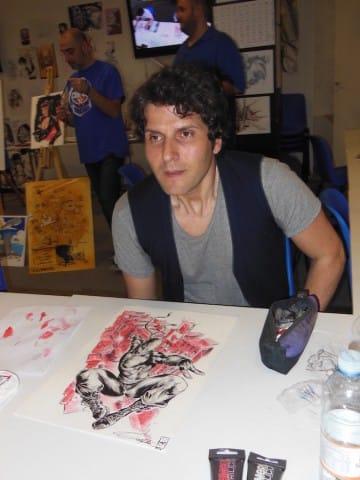 Gianluca Gugliotta ha disegnato Devil x l'asta di etna comics
