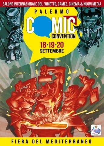 copertina della  brochure di PALERMO COMIC CONVENTION 2015