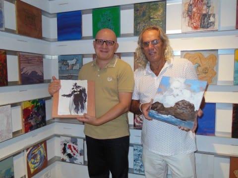 Mario e Nino, insieme alle due opere