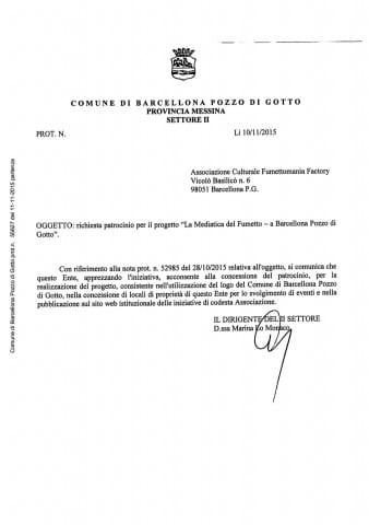 26_Prot_Par 0055627 del 11-11-2015 - DocumentoRICHIESTA PATROCINIO