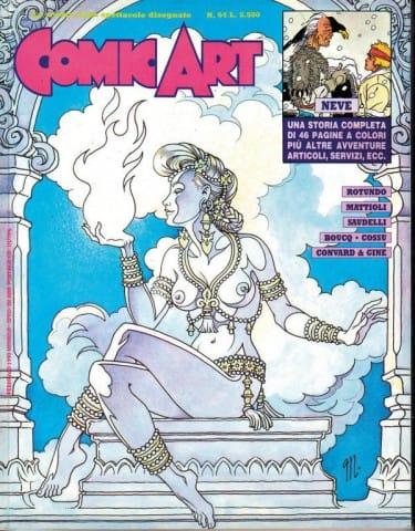 """5. Magnus: """"Le femmine incantate"""". Copertina per la rivista mensile di fumetti """"Comic Art"""" n. 64 / 1990. © degli aventi diritti, per gentile concessione"""