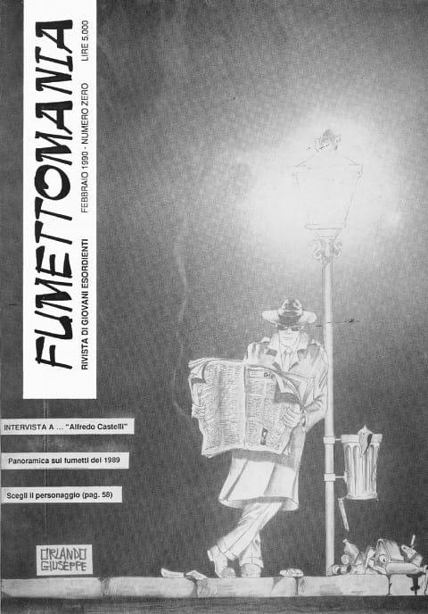Copertina del numero zero della fanzine Fumettomania (febbraio 1990)