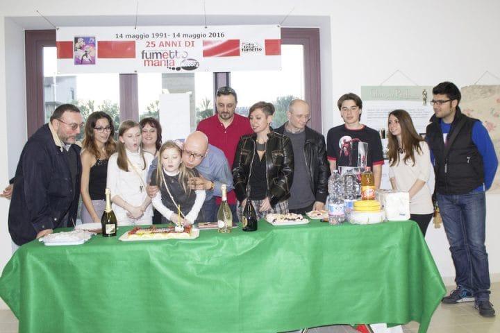 festa per i 25 anni dell'associazione culturale Fumettomania