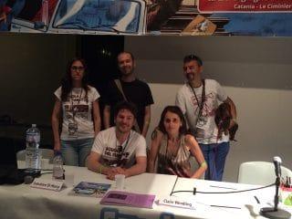 Foto di gruppo dei Direttori della Scuola del Fumetto con Claire Wendling
