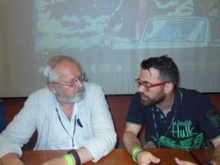 Rosinski dialoga con Amrco rizzo durante l'incontro