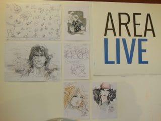 disegni finiti appesi in area live
