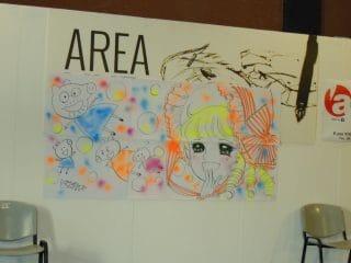 disegno finito di Igarashi in area live