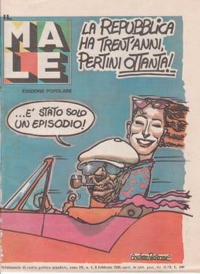 """Copertina de """"il Male"""" disegnata da Andrea Pazienza"""
