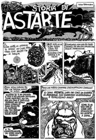 "ct14_10 - Tavola a fumetti tratta da ""Storia di Astarte"""