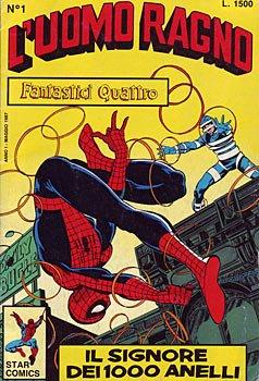 ct09_10 Copertina del n. 1 della collana Uomo Ragno(Star Comics) del 1987